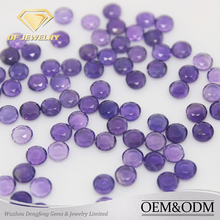 Wholesale Round Shape 2 Flat Face Cut Loose Amethyst