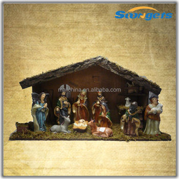China Manufacturer Religious Nativity Crib House