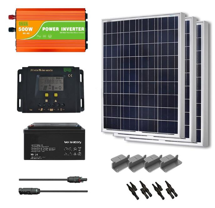 JNGE 500W solar panel with mono poly silicon material amorphous inverter solar power system