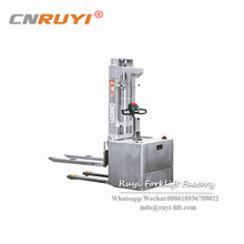 Newest stainless steel wide legs type electric stacker for food area