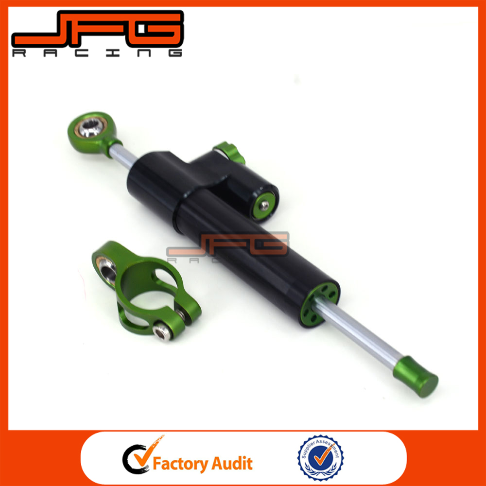 CNC Steering Damper Motorcycle Stabilizer Linear Reversed Safety Control For Kawasaki Z1000 Dirt Bike Parts