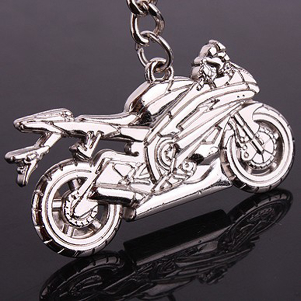 cheap souvenir type metal cool custom motorcycle key chain factory