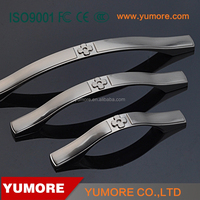 decorative hardware zinc alloy hidden window and modern cabinet handles for carton