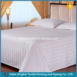 wholesale cheap price poly/cotton hotel 2cm stripe bedding fabric