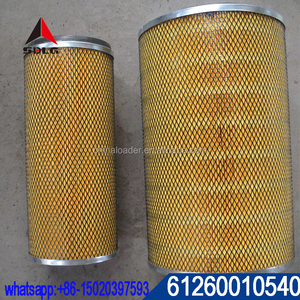 SDLG wheel loader spare parts WD10G220E21 612600110540 air filter for LG958