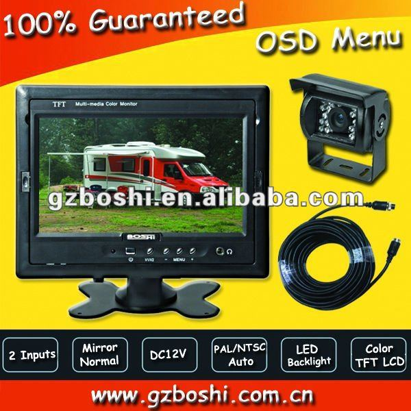 "2012 hot 7"" car visible system with CCD camera"