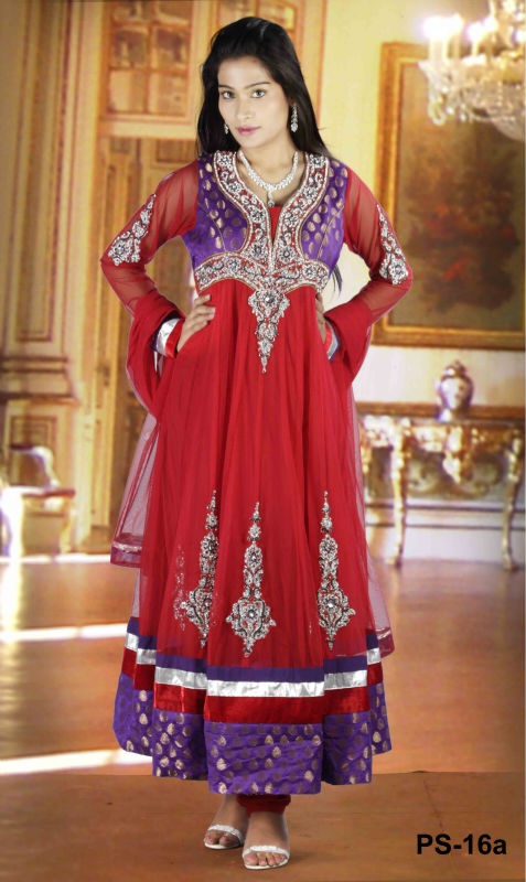 Anarkali Salwar Kameez Sleeves Design