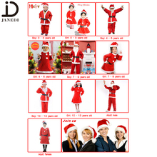 Wholesale kids baby children girls men women adults christmas costume christmas outfit suit santa claus costume dress cloth