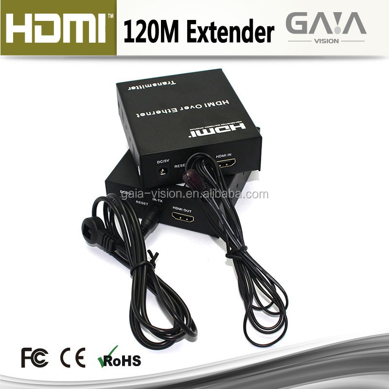 HDMI Extender 120m over RJ45 IP Cat6 with IR Remote