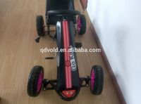 Pedal go karts with rubber wheels for 3-10 years old kids