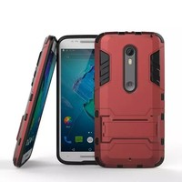 BRG Ultra Slim armor hard hybrid shockproof tpu pc case for MOTO X Style