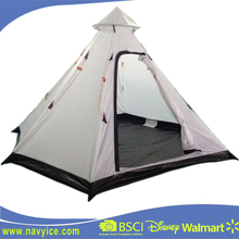 Used Outdoor camping 3-4 person waterproof outdoor steel pole Tipi camping tent Single Layer and Portable Camping Teepee Tent