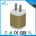 Hot Metal two Ports Wall Charger, US Plug 5V 2.1A AC Power Adapter Wall USB Charger for mobile phone