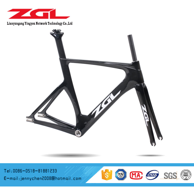 700C Carbon Fiber Road Racing Bicycle Bike Frame Track Bike Carbon Frame OEM CTT 02