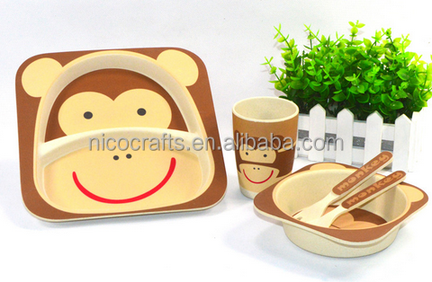 New designs custom high quality bamboo salad bowl plate