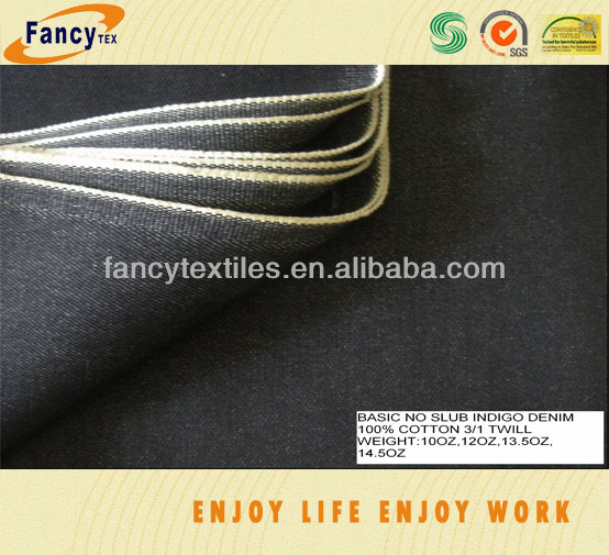 100pct cotton drill close selvage denim fabric
