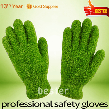 China gold manufacturer First Grade oem cotton knitted parade gloves