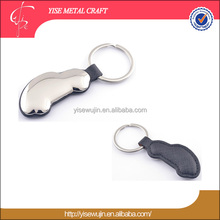 car shaped keyring leather key chain with customized logo promotion gift zinc alloy metal keychain