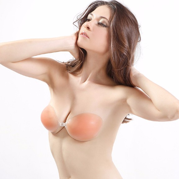 Hot sale competitive price invisible backless self adhesive breathable soft silicone breast nipple bras