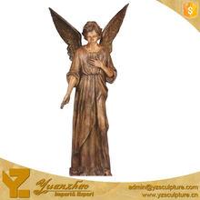 indoor brass angel lady statue for sale