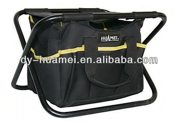 Professional durable tool chair with bag