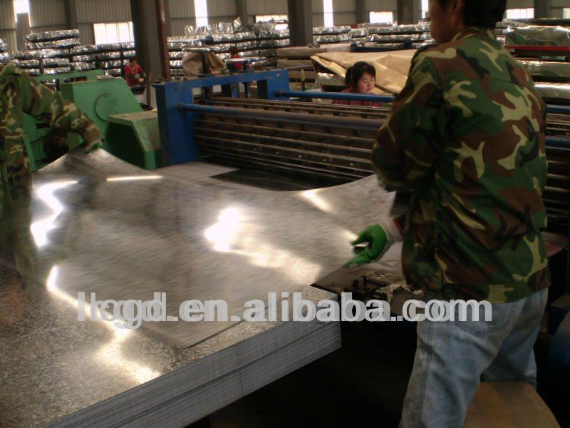 hot dipped galvanized flat metal steel iron sheet for roofing
