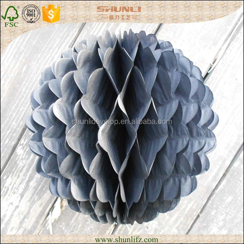 wedding party decoration round hanging black paper craft honeycomb flowers