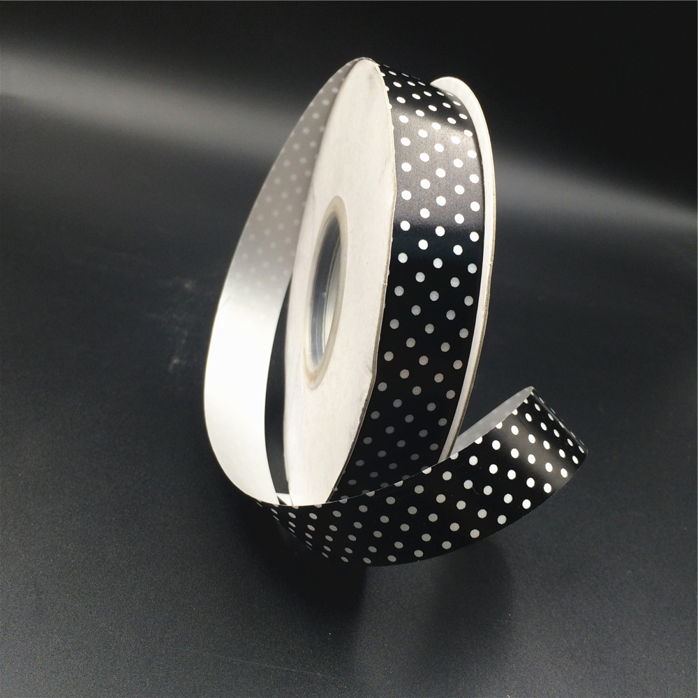 Best seller printed black and white ribbons