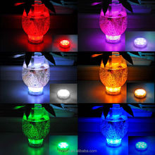 10 LED Multicolor Submersible Waterproof Party Tea Floralytes Vase Base Led Light Bright Lamp Remote Home Decor