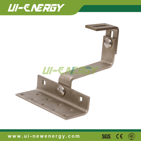 Pitched tile roof stainless steel hooks for solar mounting system