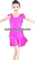 Colorfast high quality and beautiful latin perform dresses for girls