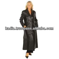 Ladies Full Length Leather Coat - Buy Sheep Leather Coat,Mid-thigh ...