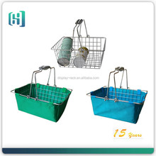 metal wire Chrome plated hanging cosmetic shopping basket for boutique