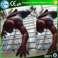 Newest design superhero inflatable character spider man inflatable superman for sale