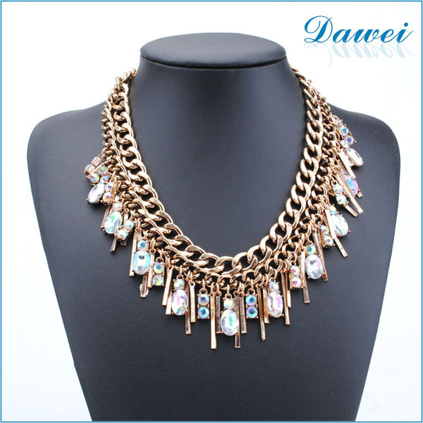 2015 summer Turkish Indian alloy Necklace gold plating glass necklace