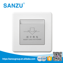 High Quality PC Pure White energy saving key card switch for hotel, Hotel Card Key Switch