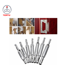 7pcs Jiangsu center drill bit drillpro doors self centeringcore hinge tapper hole puncher woodworking tools for door