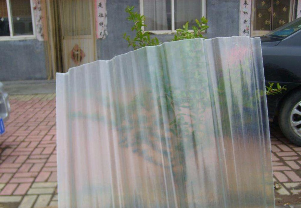 Translucent FRP fiber glass Corrugated flat Roofing sheet