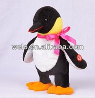 Electronic & Battery operated walking and nodding stuffed plush animal Penguin toy