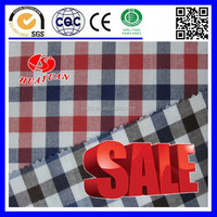 Cotton red black brown plaid white Fabric