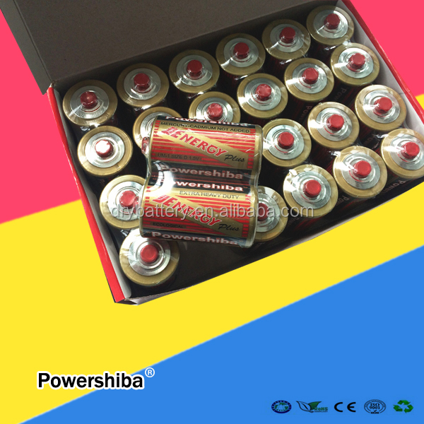 Leakproof R20P Battery 1.5v Size D Dry Cell Battery