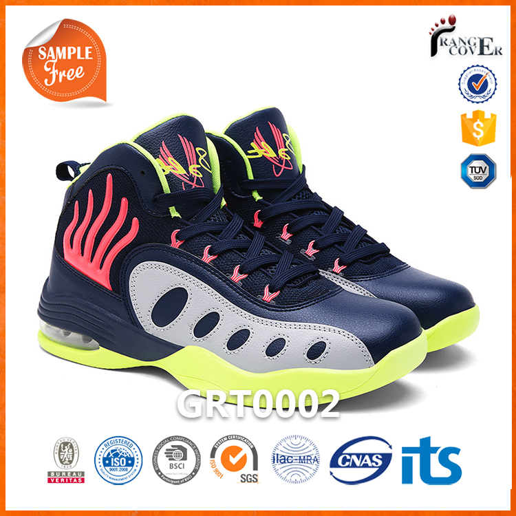 2017 New Arrival 4 Color Air Cushion No Brand Name Men Basketball Shoes