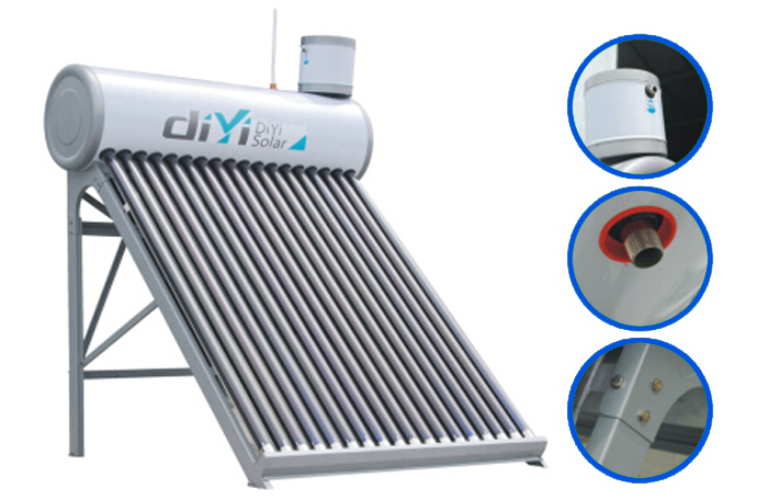 Easy to install and operate solar water heater 1000 liter