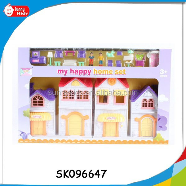 kindergarten furniture toys villa toys with flashing light and music