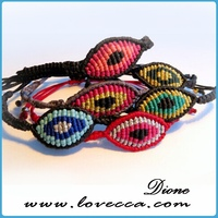2014-2015 New arrival high quality beads evil eyes bracelet, evil eye bracelet , woven evil eye bracelet