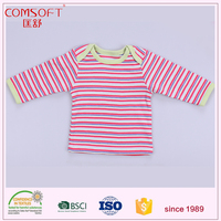 stripes pure cotton long sleeves infant newborn baby wears clothing T shirt