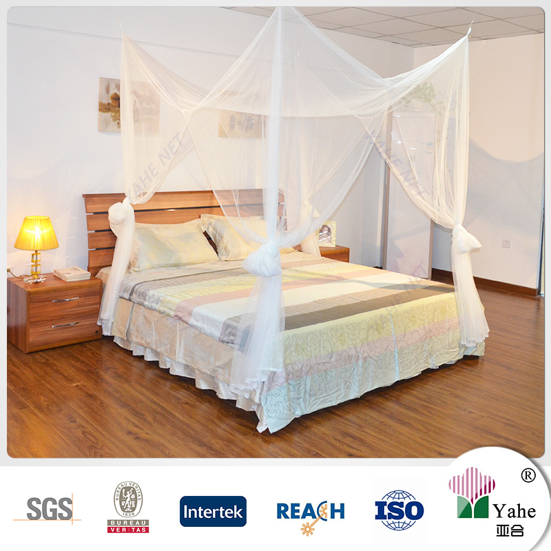Diy 4 poster canopy bed curtains mosquito netting with for Diy poster bed