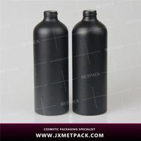 Stylish design good quality aluminum shampoo bottle 500ml