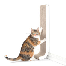 4CLAWS Wall Mount Scratching Post (White) - BASICS Collection Cat Scratcher