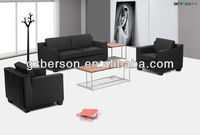 Modern office leather sofa set nice metal frame leather sectional sofa